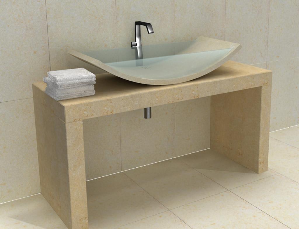 Lavorazione in pietra marmo e granito per bagni - Lavandini in vetro per bagno ...